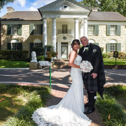 Steve and Allison Pettigrew of Scotland married at Graceland's Chapel in the Woods on September 21, 2017.