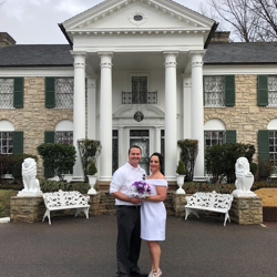 Jeremiah and Melissa Brandt of Tulsa, Oklahoma were married at Graceland's Chapel in the Woods on February 17, 2018.