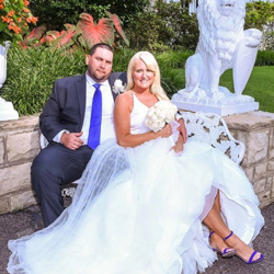 April Clanton and Andre Garrett tied the knot at Graceland