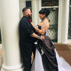 Jason and Jennifer King of Missouri were married at Graceland's Chapel in the Woods on October 13, 2018.