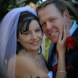 Perveen Matas and Bruce Stol of Calgary, Alberta, Canada, were married at the Graceland Chapel in the Woods on January 17, 2015.