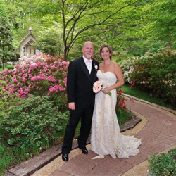 Stephanie Laidig and Anthony Begley of Bradenton, Florida, were married at Graceland's Chapel in the Woods on April 18, 2015.