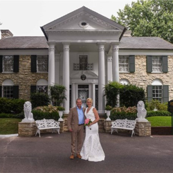 Mr. and Mrs. Adrian Weeks from England were married at Graceland