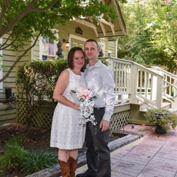 Amanda and Regan Bensyl from St. Joseph, Illinois, were married on Sept. 8, 2015, at the Chapel in the Woods.