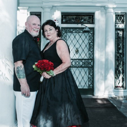 Sandra Smith and Bill Young from Raleigh, North Carolina, were married on July 20, 2015.