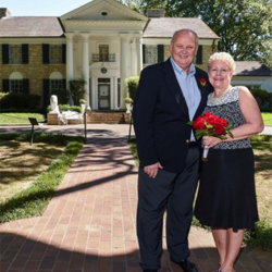 John and Donna Brown from Orlando, Florida, celebrated their 31st wedding anniversary by renewing their vows at Graceland