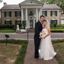 Penny Hendrix and Roland Schalker of Shrewsbury, Pennsylvania, were married at Graceland's Chapel on Oct. 3, 2015.