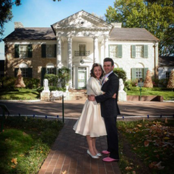 Istra and Nicolas Segonds from London, England, were married at Graceland