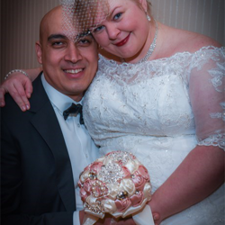 Erin Zurawski and Mahmoud Mohammed from Crestwood, Illinois, celebrated their union at Graceland's Chapel in the Woods on Jan. 25, 2016.