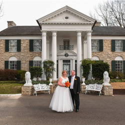 Carol Mackey and Robert Maddison from Greater Manchester celebrated a wedding blessing at Graceland