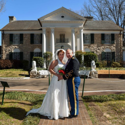 Jamie Davidson and Michael Fagnant of Arlington, Virginia, were married on Feb. 13.