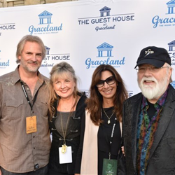Ronnie Tutt and his wife Donna posed with friends, Andy Childs and Kelley Johnson, at The Guest House at Graceland