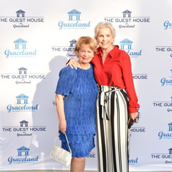 Two Elvis co-stars, Cynthia Pepper and Marlyn Mason, walked the blue carpet at the ribbon cutting.