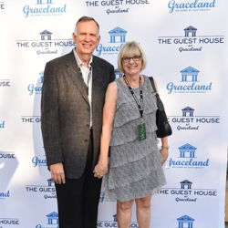 Sam and Louise Thompson walked the blue carpet at The Guest House at Graceland
