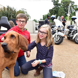 Memphis Police Department brought a member of their K-9 Unit to Home School Day.