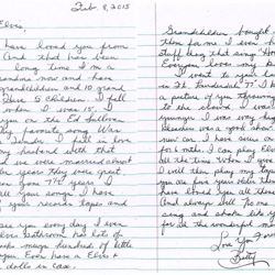 This letter was written by Betty in Florida.
