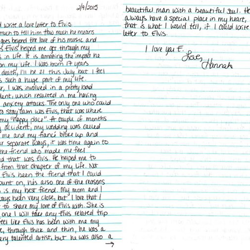 Hannah, a fan from Florida, wrote this letter.