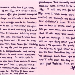 Nicole, a fan from Texas, wrote this.