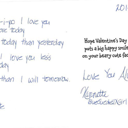 Nannette, from Texas, wrote this card.