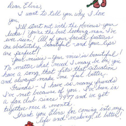 This letter is from Connie in Virginia.