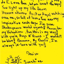 Denise, a fan from Texas, wrote this letter.