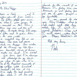 Noah, a fan from Missouri, wrote this letter.