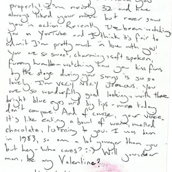 Elvis fan Ellie, from the UK, wrote this letter.