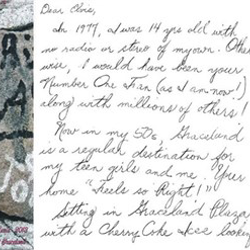 Suzy, a fan from Missouri, wrote this letter.