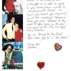 This letter is from Miriam, an Elvis fan from Hawaii.