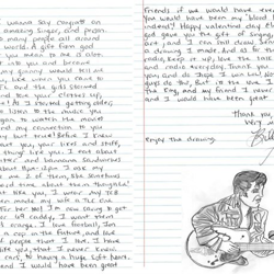Billy, an Elvis fan from Florida, wrote this letter.
