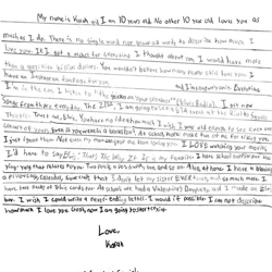 Karah, an Elvis fan from Illinois, wrote this letter.