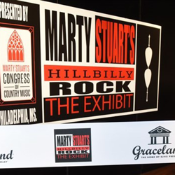 "Marty Stuart opened his new exhibit, ""Hillbilly Rock,"" at Elvis Presley"
