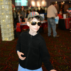 This Boy Scout struck an Elvis-inspired pose at Scouts Day.