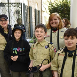Scouts toured Graceland, many for the first time.