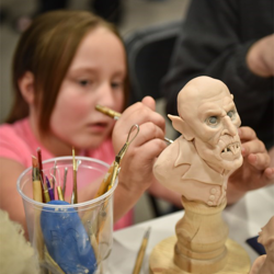 With the help of the Memphis College of Art, Scouts created and painted sculptures.