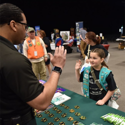 The Southaven Police Department taught Scouts about police work during Scouts Rock at Graceland.
