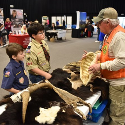 Scouts met with a variety of exhibitors to learn about everything from wildlife to robotics.