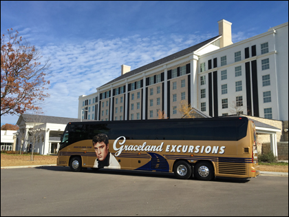 The luxury Graceland Excursions motorcoach will take you on a musical - and educational - journey into Elvis' roots.