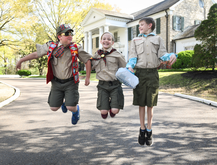 Scouts Rock at Graceland