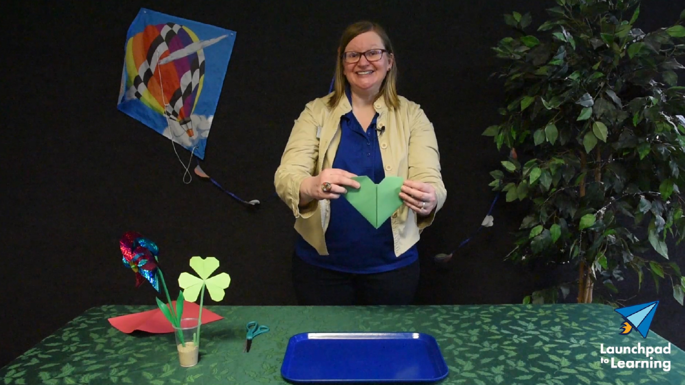 Four Leaf Clover Origami Activity - St. Patrick's Day image