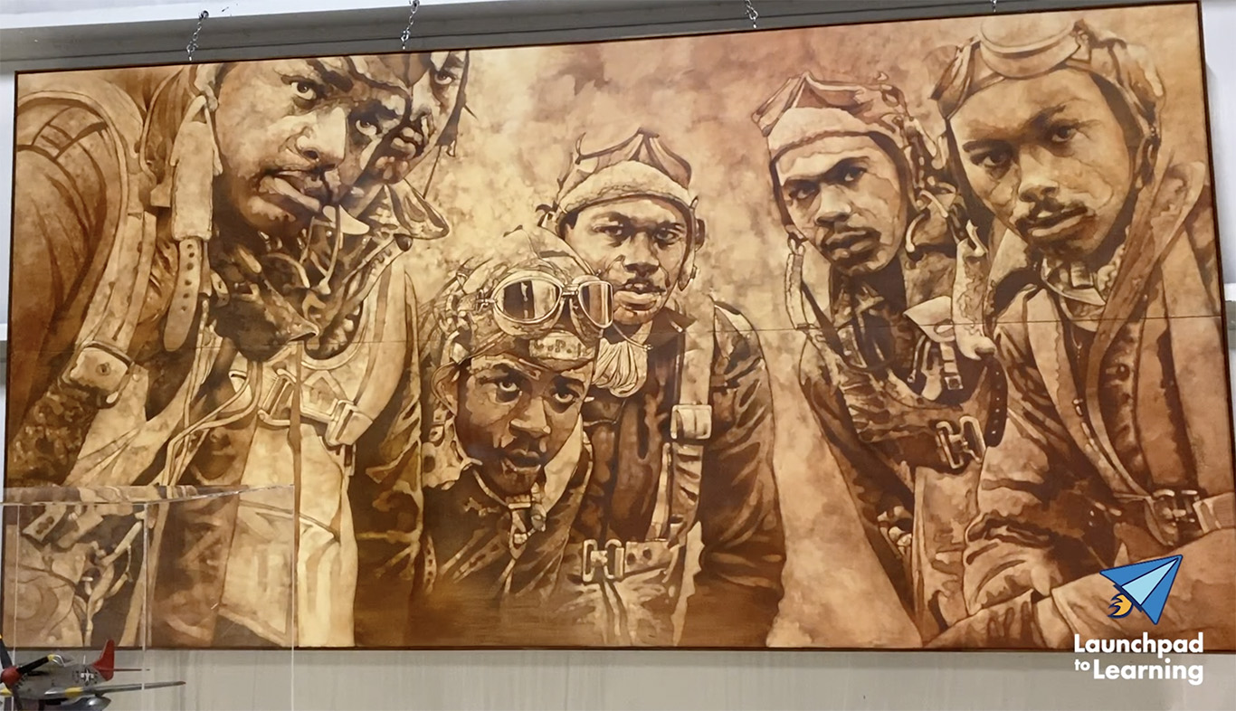 The Tuskegee Airmen Painting at the Air Zoo image