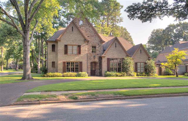 two-story brick house