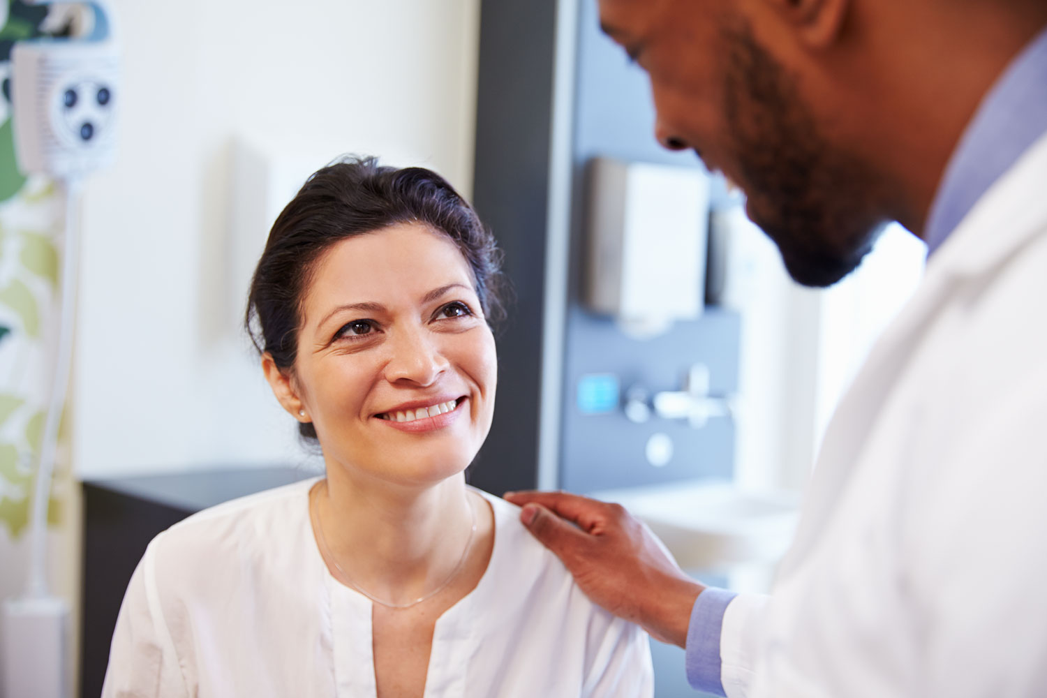 Patient and doctor reviewing test results
