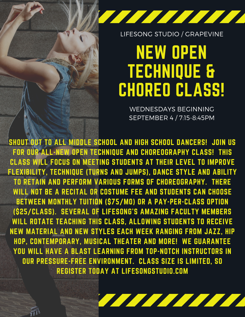 NEW Open Technique & Choreo Class
