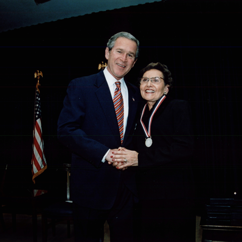 President George Bush presented founder Marjorie Marugg-Wolfe the nation's highest honor for community volunteers, the annual Point of Light President's Community Service Award.
