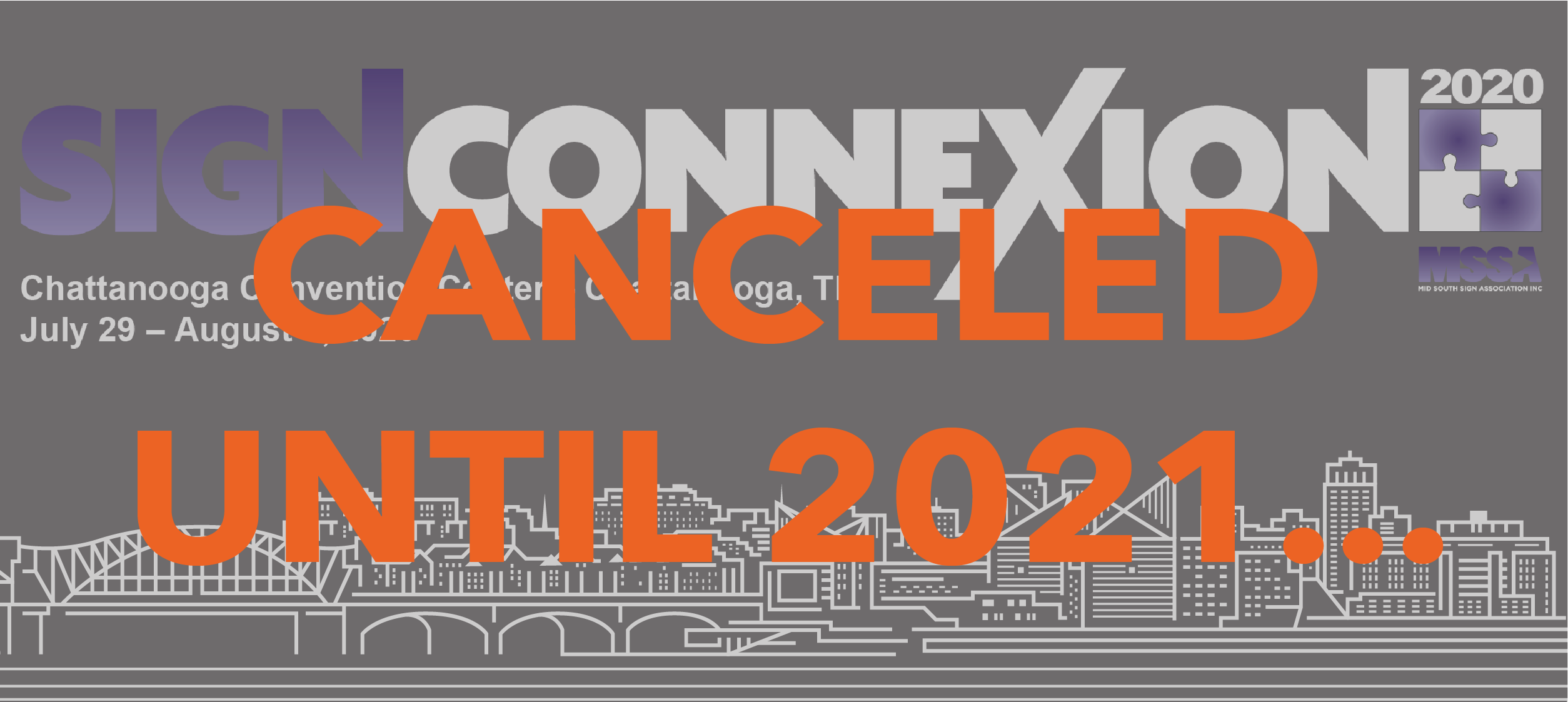 event cancelled until 2021 notice