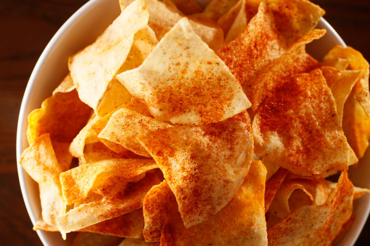 Seasoned Tortilla Chips from Swankys Taco Shop