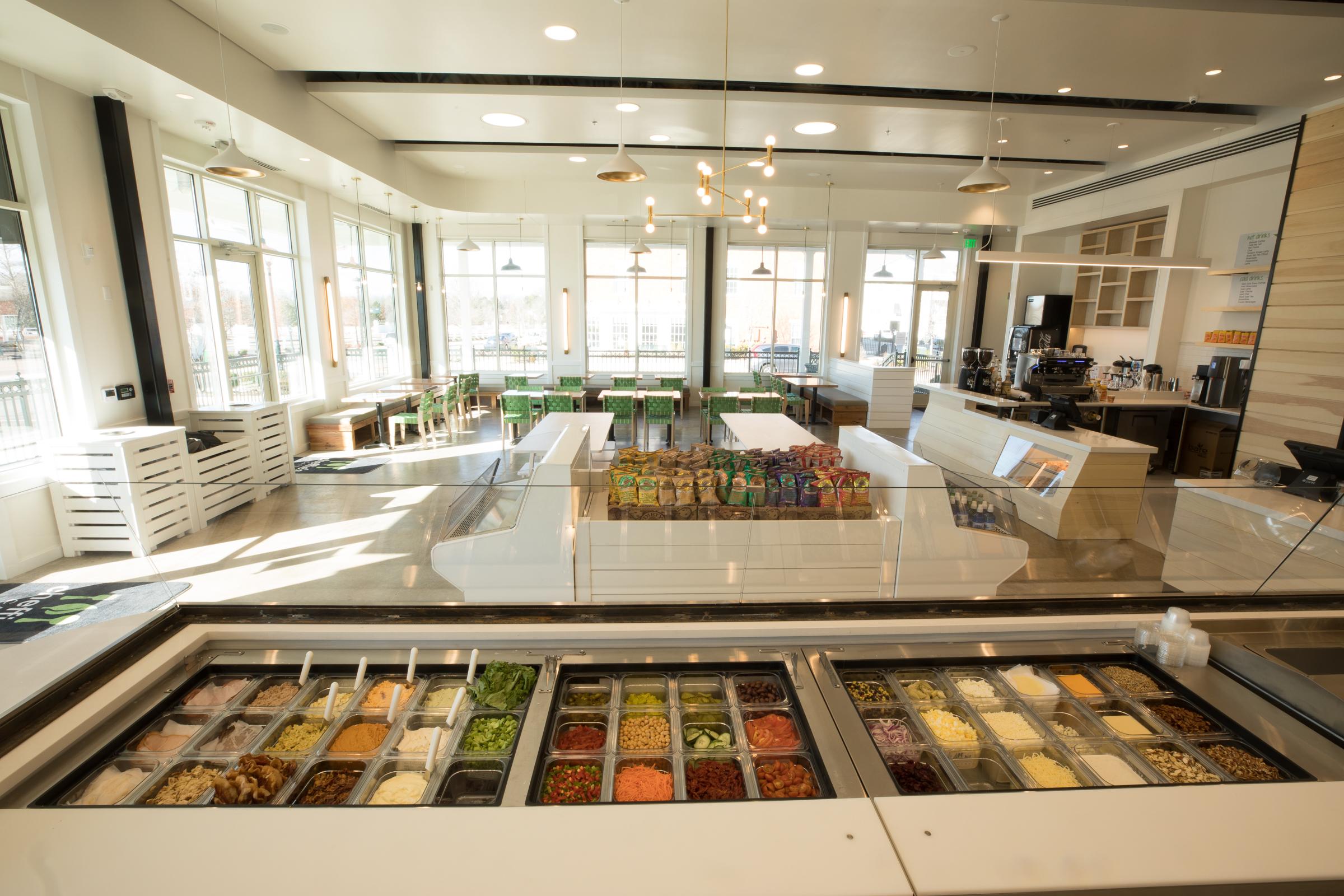 Cheffie's salad bar of ingredients