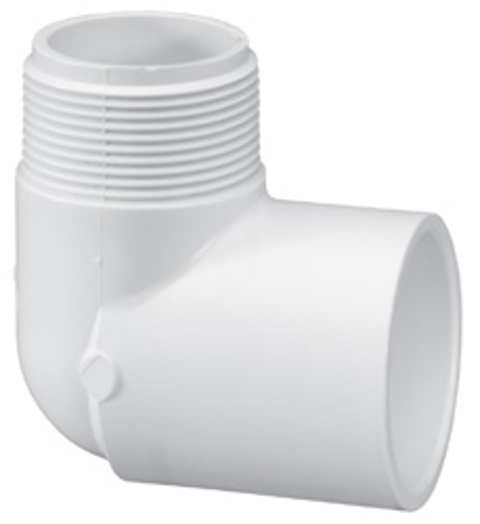 ¾ x ½ Mpt x Slip Sch40 90 degree Street Elbow