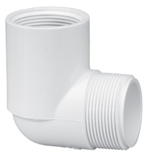 ½ PVC MPT x FPT Sch40 90 degree Street Elbow
